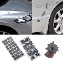 Naklejki do stylizacji samochodów 3D dziura po kuli grafika silnik zabawna naklejka dekoracja samochodu naklejki samochodowe