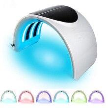 LED Facial Mask & Neck 7 Color Light Photon Acne Treatment PDT Skin Rejuvenation Anti Acne Wrinkle Removal Therapy Beauty Salon