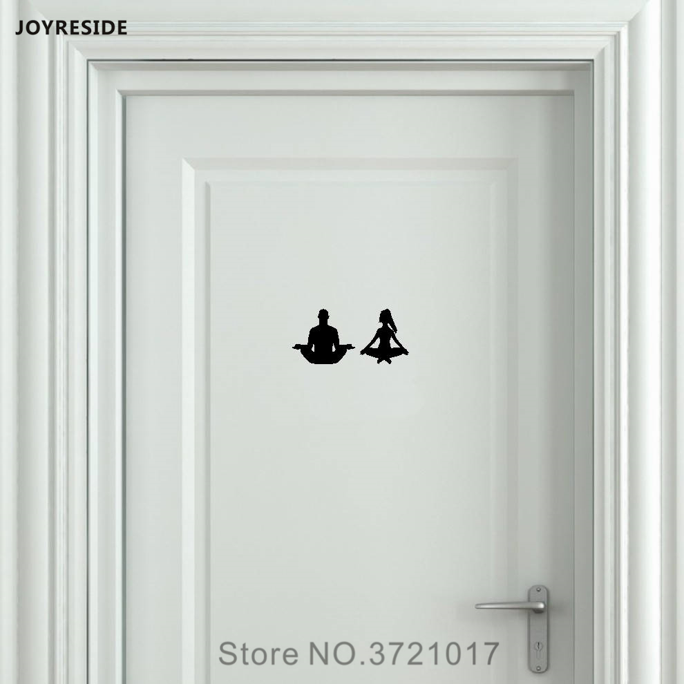 Joyreside Yoga Unisex Restroom Bathroom Toilet Door Wall