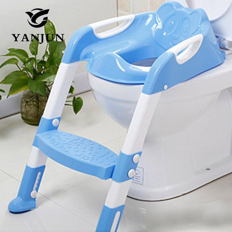 YANJUN детское сиденье для унитаза складной горшок туалет тренер стул Шаг с регулируемая лестница младенческой горшок детей YJ-2081