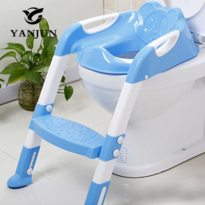 YANJUN Baby Toilet Seat Folding Potty Toilet Trainer Seat Chair Step with Adjustable Ladder infant Potty Children YJ-2081