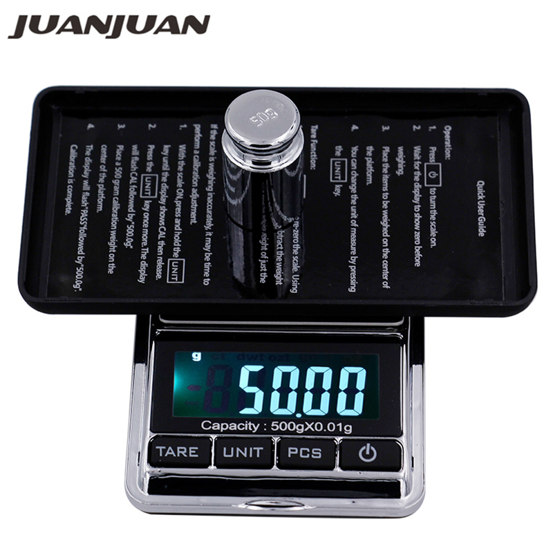 500g 0,01g Pocket digital Waagen Schmuck Digital display Gewicht Diomand Balance waagen LCD display Digitale skala 40% off
