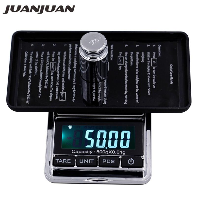 500g 0.01g Pocket digital Scales Jewelry Digital display Weight Diamond Balance scales LCD display Digital scale 40% off