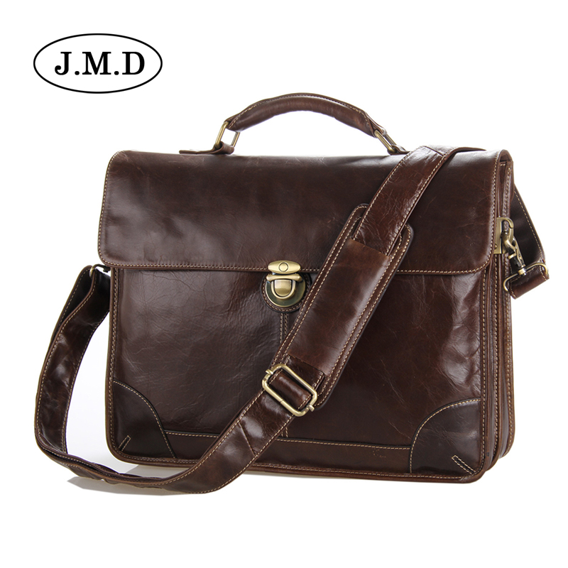 J.M.D Genuine Leather Men Briefcase Man Bags Business Laptop Tote Bag Men's Crossbody Shoulder Bag Men's Travel Bags 7091 mva genuine leather men bag business briefcase messenger handbags men crossbody bags men s travel laptop bag shoulder tote bags