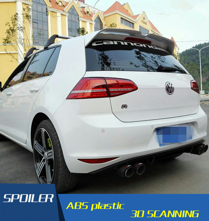 for oter golf 7 spoiler abs material car rear wing primer. Black Bedroom Furniture Sets. Home Design Ideas