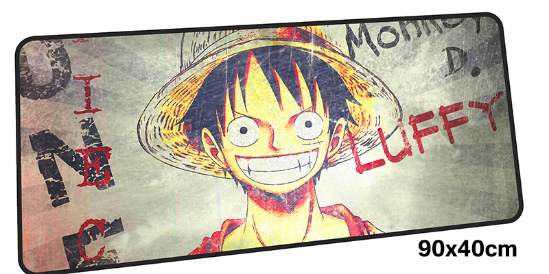 One Piece mouse pad gamer 900x400mm notbook mouse mat gel large gaming mousepad High-end pad mouse PC desk padmouse accessories