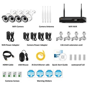 Image 2 - 4CH Audio Record 5MP H.265 HD Home Wifi Wireless CCTV Camera System NVR Set Video Surveillance Kit IP Indoor Security Camera