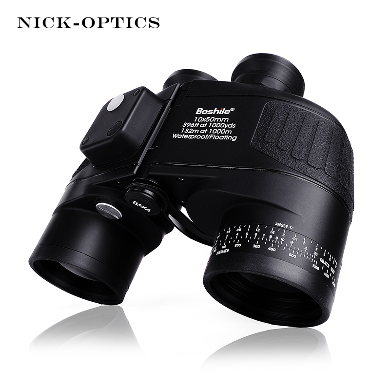 Boshile Militaire Jumelles 10X50 Télémètre et Compas Télescope Binoculaire lll Nuit vision HD Puissant Jumelles Pour La Chasse