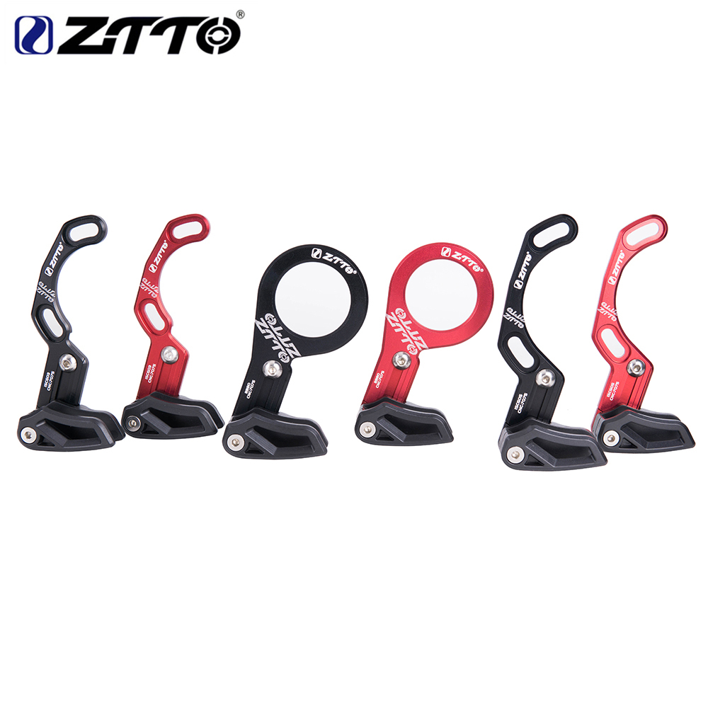 ZTTO Bicycle chain guide MTB Bike Chain guide 1X System ISCG 03 ISCG 05 BB mount 7075 CNC RED/BLACK For round 32-40t/oval 32-38T