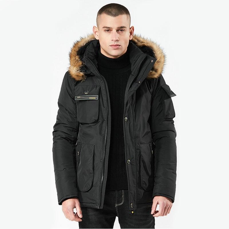 High Quality Hooded Long Male Men Winter Jacket Coat Casual Warm Windbreaker Military   Parka   Men
