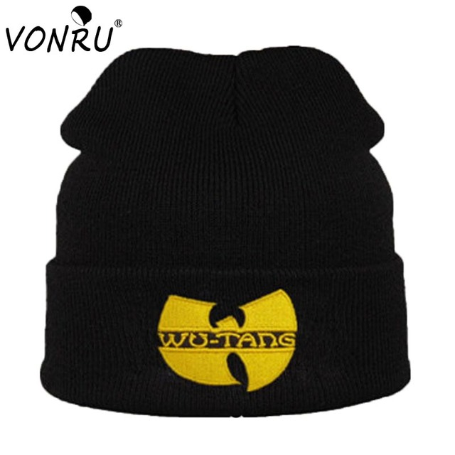 39b29fc6da2 Fashion New WU TANG CLAN Men s Hats Unisex Winter Warm Beanie Hat for Women  Hip Hop Black Knitted Bonnet Ski Gorros Toca