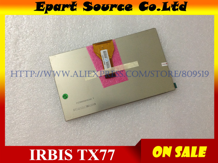 A+New LCD Display Matrix 7 inch IRBIS TX77 TX 77 3G TABLET 30pins Inner LCD Screen Panel Lens Module replacement  Randomcode new lcd display matrix 7 inch irbis tx77 3g tablet inner lcd screen panel lens frame module replacement free shipping