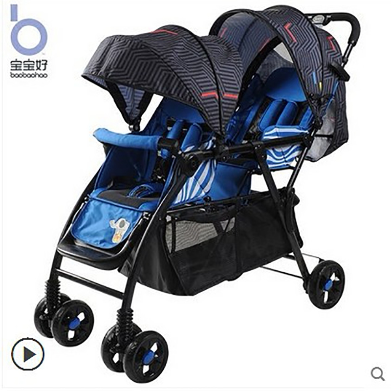 Babyfond lekki wózek dziecięcy typu twin wysokiej krajobrazu drugiego dziecka wózek dla dziecka