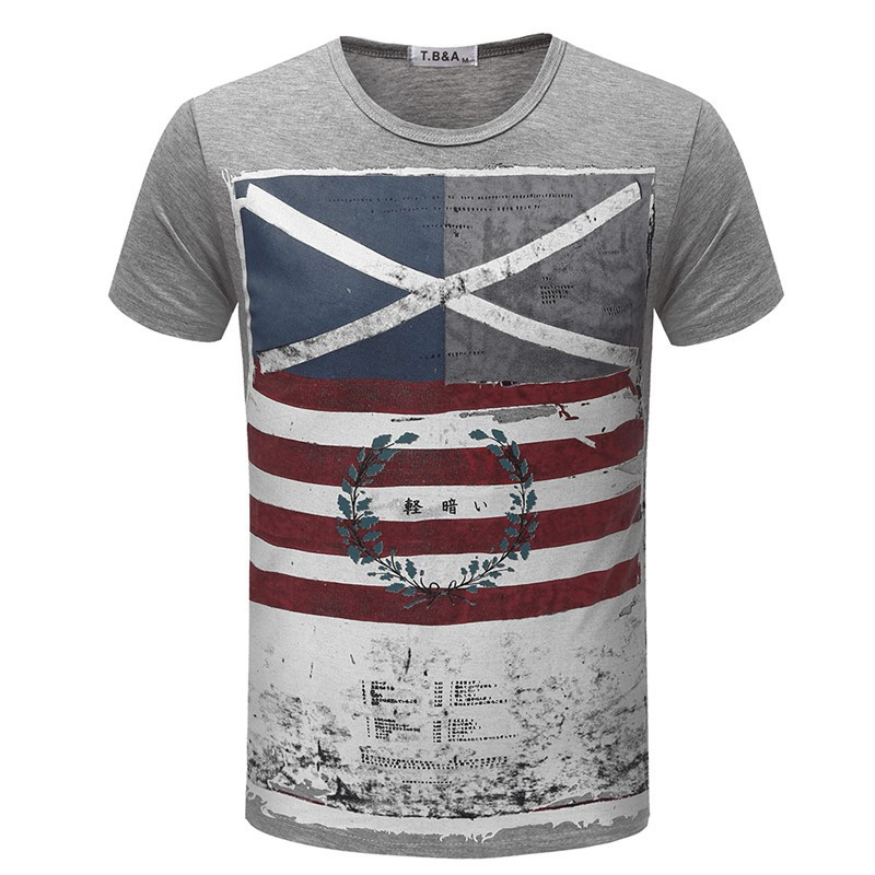 New Arrival jeansian Men Summer Casual Jack Flag T-<font><b>Shirt</b></font> Slim Fit Short Sleeves Designer USA Sizes XS S M L <font><b>XL</b></font> <font><b>6</b></font> Colors AMA002 image