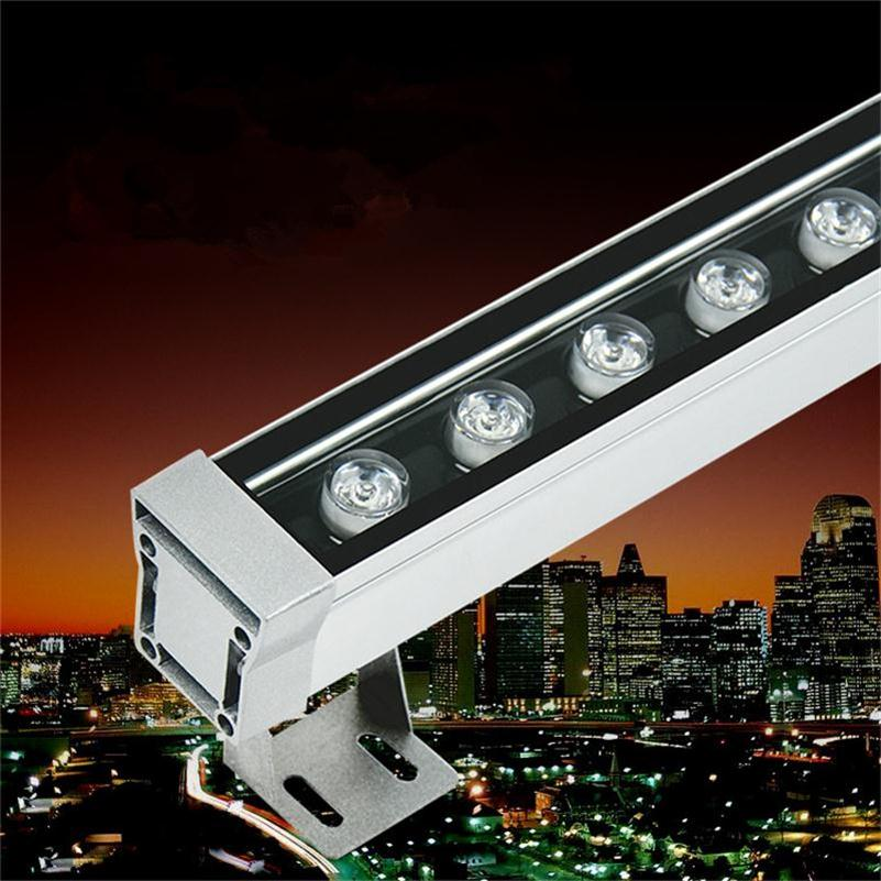 12W 1000mm LED Wall Washer Lamp IP65 Spot Exterieur Polished Steel Buiten Lamp Outdoor Wall Floodlights 12W Luminaria de Parede
