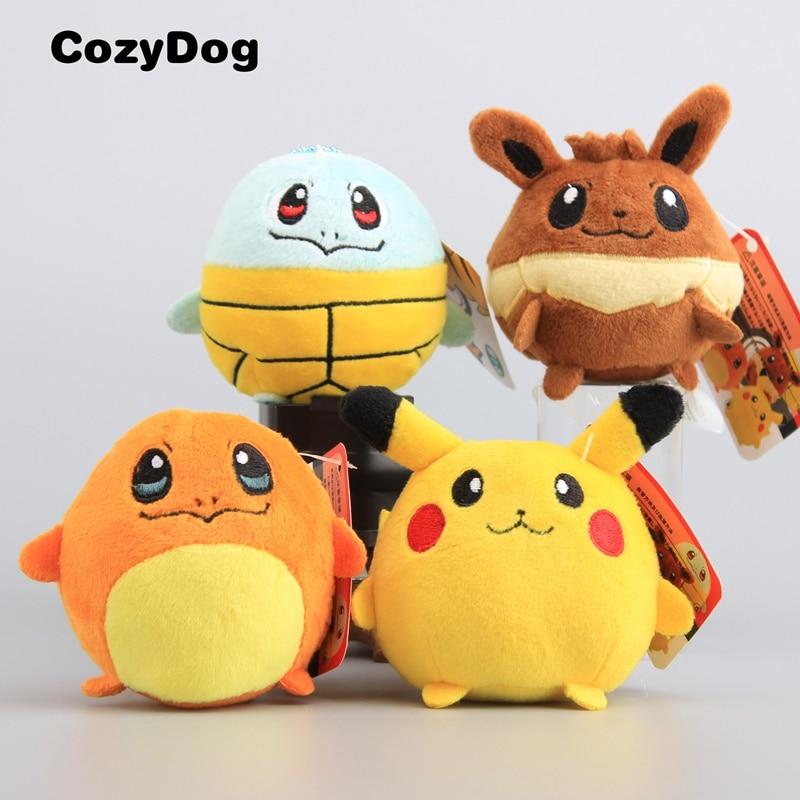 9 cm Super Cute Mini Pokemon Squirtle Keychain Plush Toy