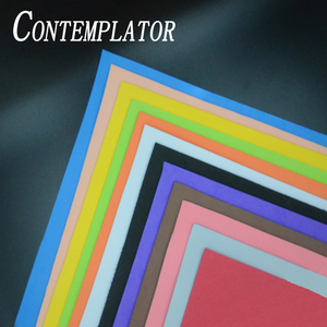 Image 1 - Contemplator 12 색 2mm 두께 플라이 타이 플로팅 폼 4 매/팩 eva 스퀘어 페이퍼 플라이 낚시 재료 잔디 호퍼 용