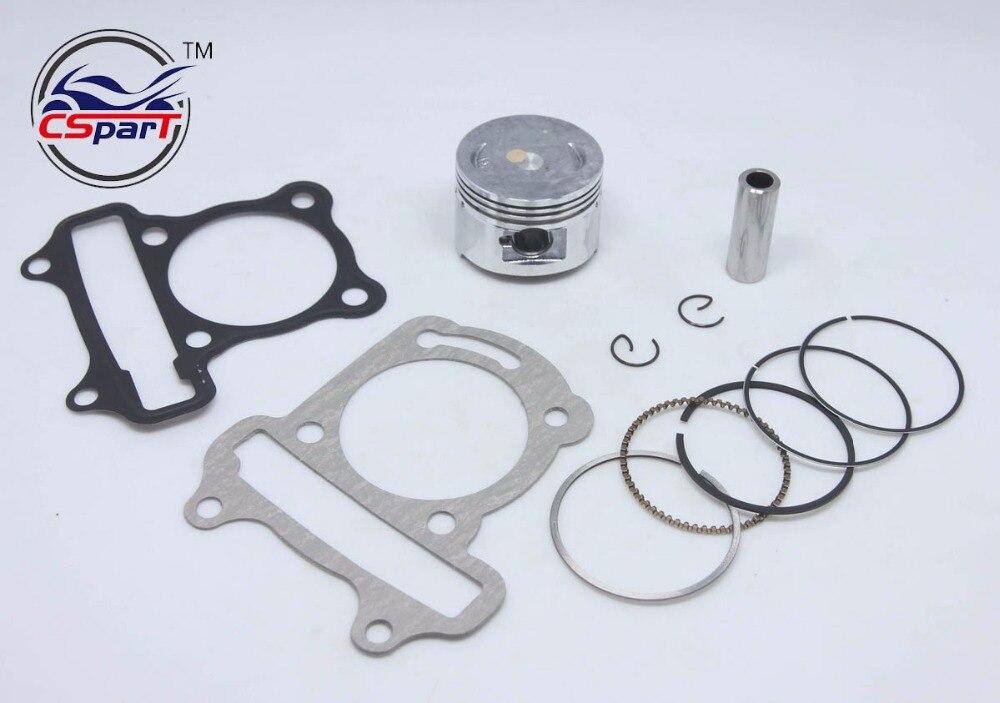 Performance 47MM Cylinder Piston Ring Gasket Big Bore Kit GY6 80CC ...