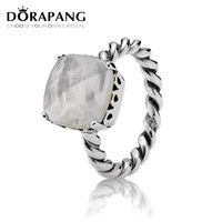 DORAPANG New Real Natural 100 925 Sterling Silver Rings For Women Luxury Sona Cubic Zirconia Rings