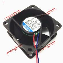 Free Shipping For ebmpapst 614 NHHR 614NHHR DC 24V 3.0W 2-wire 60x60x25mm Server Square Cooling Fan ebmpapst w2s130 aa03 64 server round fan ac 230v 45w 172x150x55mm 2 wire