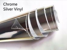 500mm x 1520mm DIY Chrome  Air Free Mirror Vinyl  Wrap Film Sticker Sheet Decal Emblem Car Bike Motor Body Protect