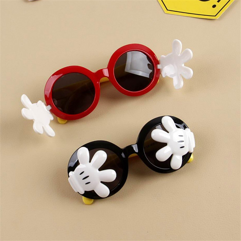 29aa852563 iboode Funny Palms Round Sunglasses for Kids Polarized Silicone Flexible  Cute Boys Girls Sun Glasses Cartoon Hands Cover UV400