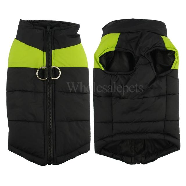 2017 Winter Dog Clothes Waterproof Warm Pet Vest Jacket Coat  For Small Medium Large Dogs roupas para cachorro S M L XL XXL