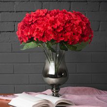 7 Fork Artificial Flower Hydrangea Silk Real Touch Fake Home Wedding Bridesmaid Bridal Daily home Decoration #