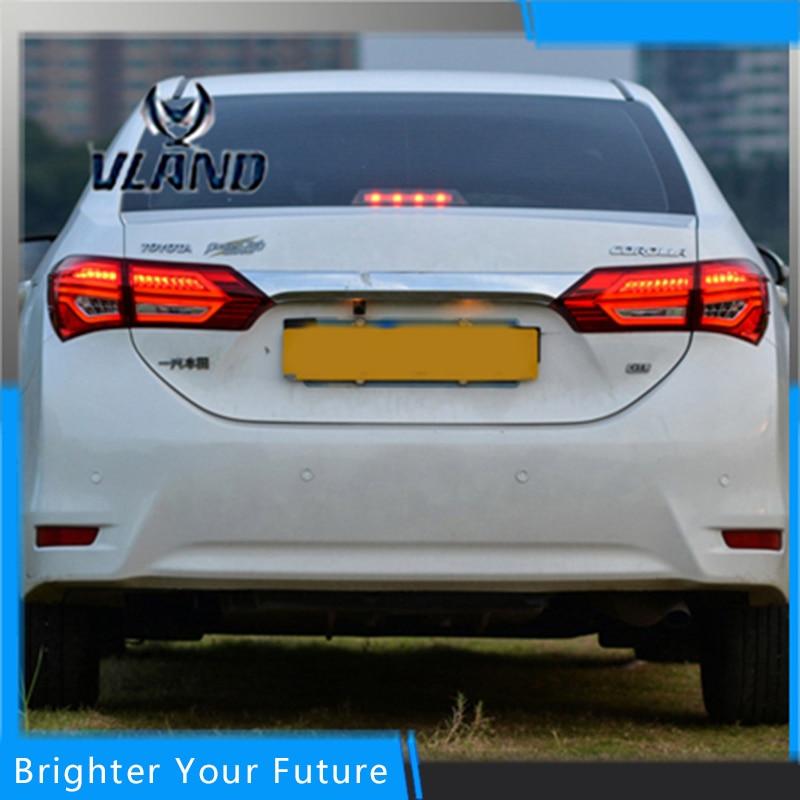 2шт задние фонари для Тойота Королла 2014 2015 тормоза хвост света сигнала стоп задний правый в сборе светильники для стиля Бенц