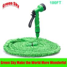 Heißer Verkauf Garten Magie Erweiterbar Flexible Wasser Kunststoffrohr Mit Spritzpistole Gartenschlauch 100ft
