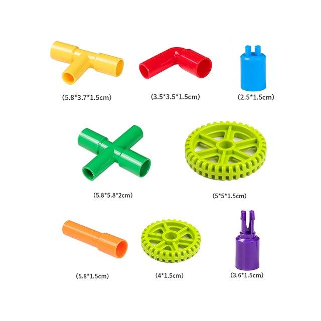 Blocs de construction de tuyau de créativité assemblant le jouet pour des briques de modèle de bloc de Tunnel éducatif denfants