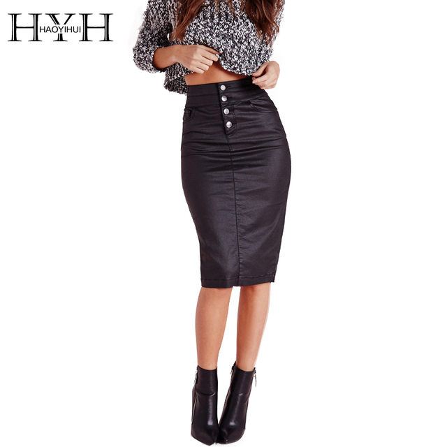 HYH HAOYIHUI 2017 Brand New Summer Fashion Women Casual Office Sexy Ladies High Waist Bodycon Midi Pencil Skirt