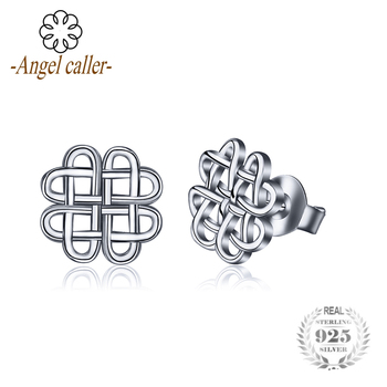 Earrings 925 Sterling Silver Irish Special Knots stud Earrings best selling 2018 products silver 925 jewelry for women CYE009