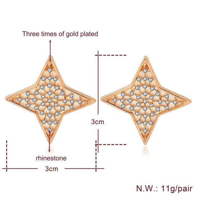 Серьги подвески для пирсинга в форме звезды с кристаллами