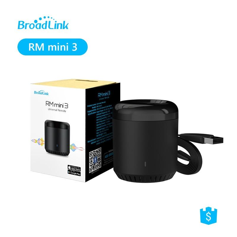 Broadlink controle remoto rm mini 3, controle remoto para casa inteligente, wifi, ir, suporte para