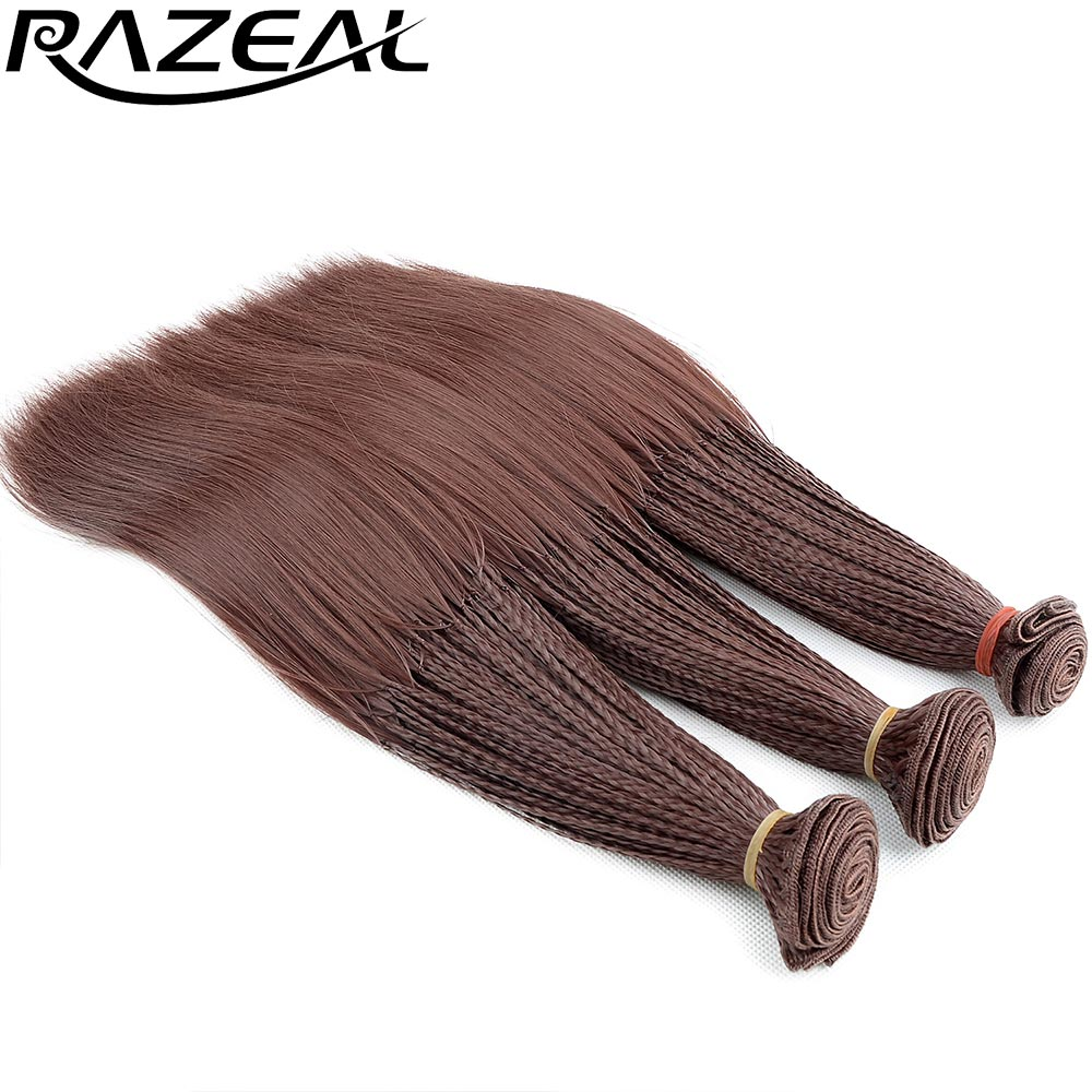 Razeal Black Blonde Synthetic Braiding Ombre Hair Extensions 280 Roots/Pack Crochet Braids Synthetic Hair Weave High Temperature