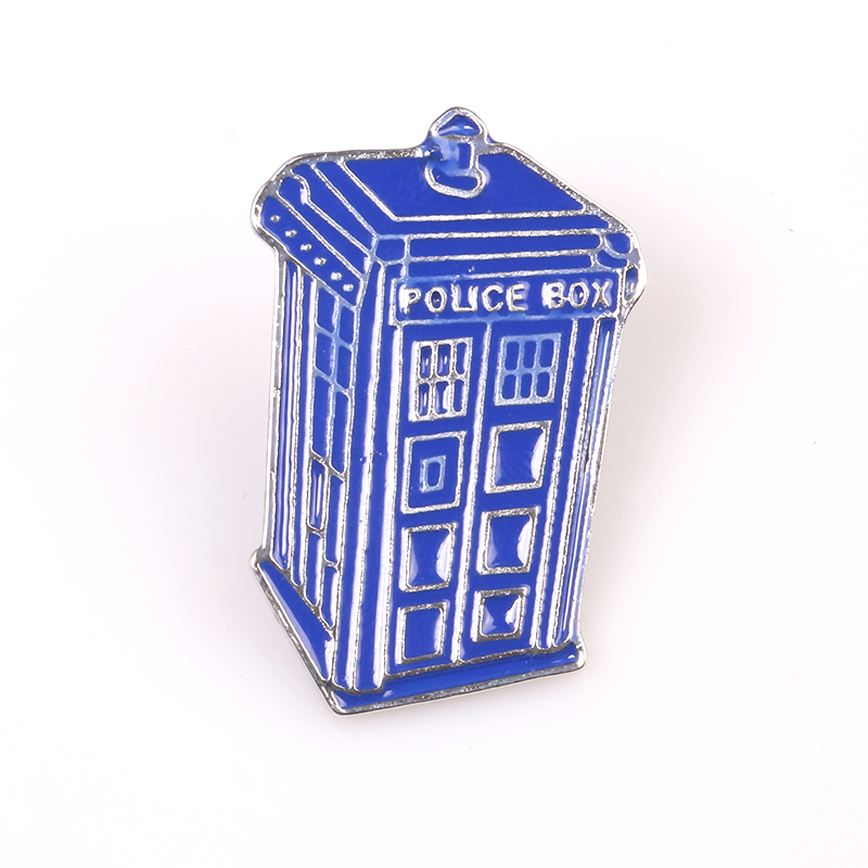 Doctor Who Single Houses Tardis Brooch Dr Mysterious Blue Police Box Enamel Pin And Brooches For Women Men jewelry