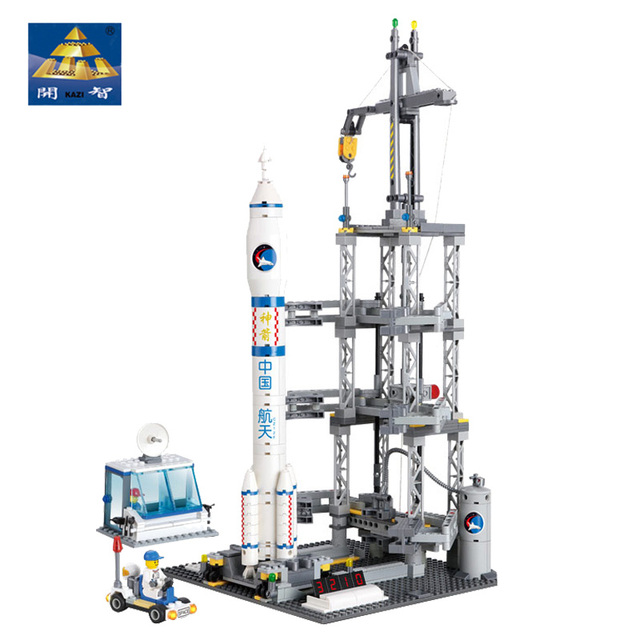 Spaceship Toys For Boys : Kazi building blocks toys space shuttle rocket station