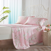 Bamboo Fiber Flat Bed Sheets With Pillowcase Summer Cool Cloth Fabric Sleeping Mat 245 250cm 245