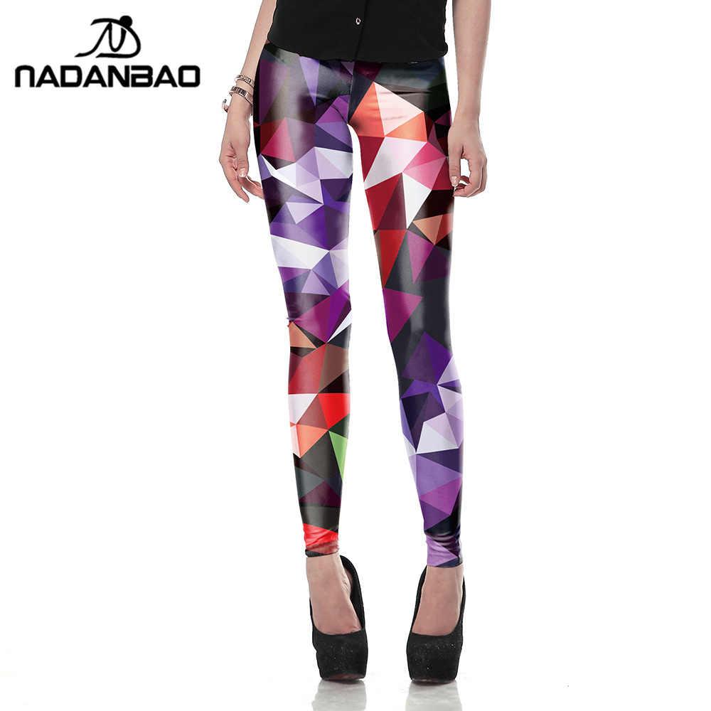 NADANBAO оптовая продажа Новые Модные женские леггинсы с 3D принтом цветные леггинсы Ray флуоресцентные леггинсы брюки леггинсы для женщин