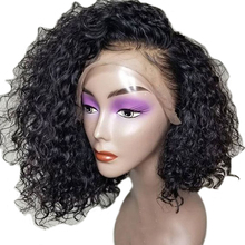 Lace Front Human Hair Wigs Pre Plucked Brazilian Short Wigs For Black Women Curly Wig Bleached Knots Remy 130% Density
