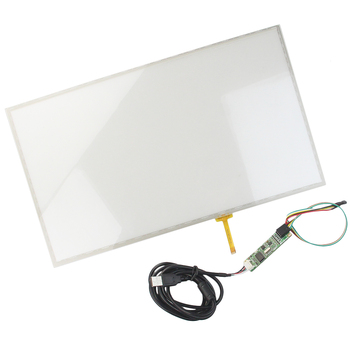 "15.6"" Widescreen 359*209mm 4 wire Resistive Industry Touch screen Panel Digitizer Glass +USB Controller Win 7 PC"