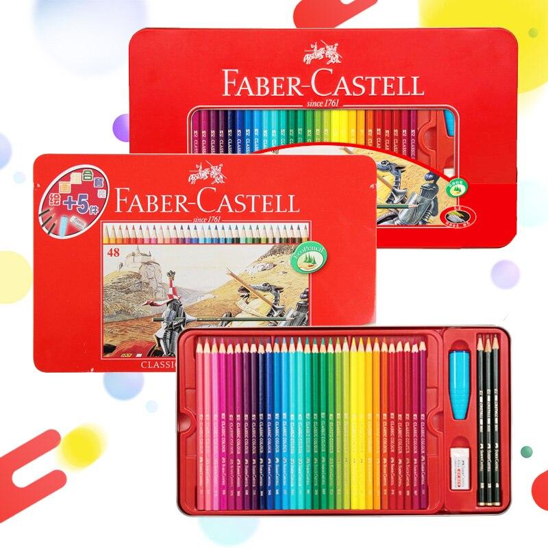 Faber Castel classiques crayons de couleur professionnel 48/60 Base d'huile couleurs Art dessin crayons pour artiste croquis Art fournitures