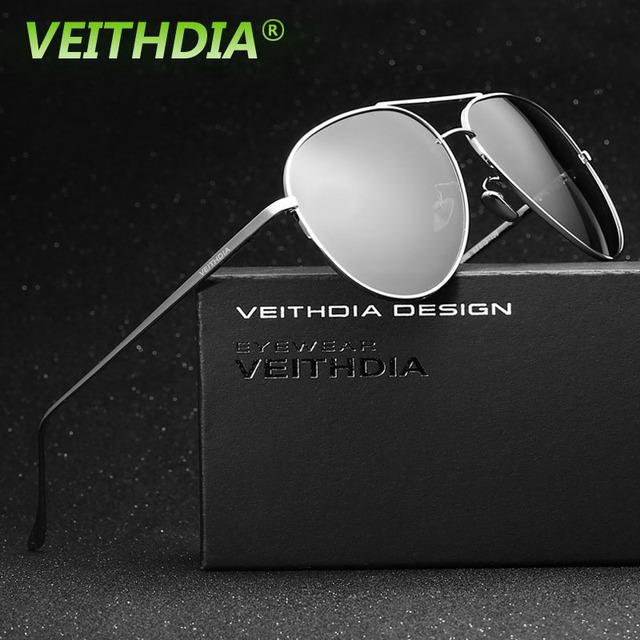 Veithdia marca logotipo original acessórios espelho de condução masculino óculos de sol óculos uv400 óculos polarizados óculos de sol para homens