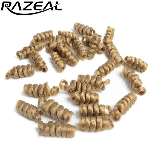"Razeal 6 ""크로 셰 뜨개질 머리띠 kenzie curl 큰 곱슬 머리 크로 셰 뜨개질 머리 합성 ombre burgundy braiding hair"