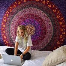 Tapiz de Mandala indio para colgar en la pared, Alfombra de playa de arena, manta, tienda de campaña, colchón de viaje, tapiz de cojín para dormir bohemio