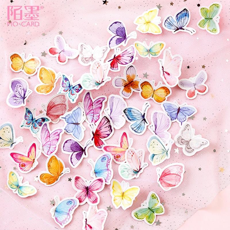 45 Pcs/Box Animal Cute Beautiful Butterfly Mini Decoration Paper Sticker Package DIY Diary Decoration Sticker Album Scrapbooking