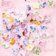 45 pçs/caixa adesivo de papel de decoração fofo, borboleta, mini adesivo de pacote, decoração diy, diário, adesivo, álbum de recortes
