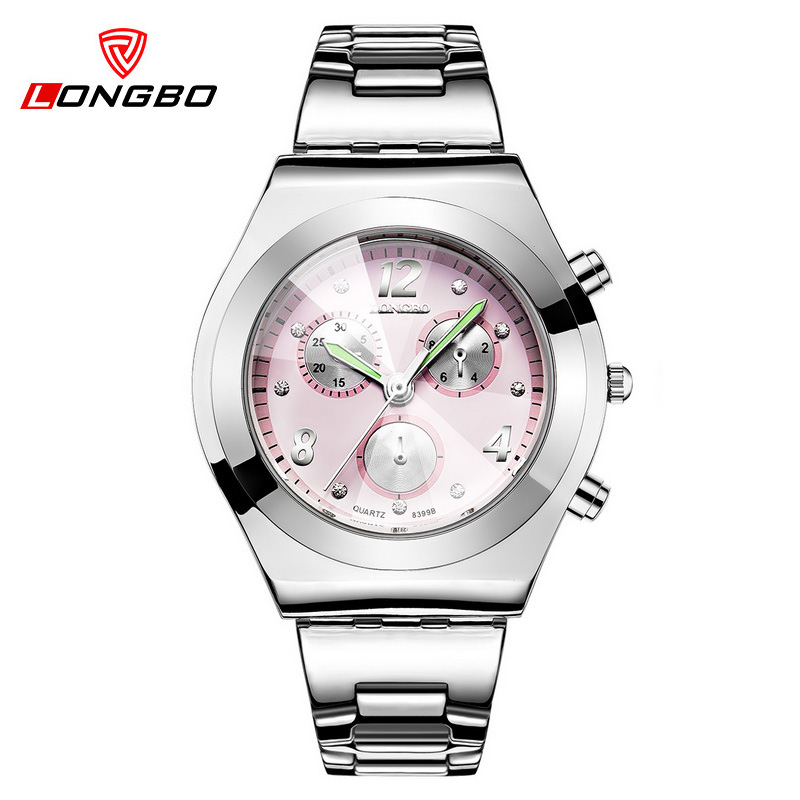 LONGBO Women Watches Famous Brand Ladies Quartz Watch Full Steel Dress Wristwatch With Crystals Fahion Reloj Mujer Hot Selling