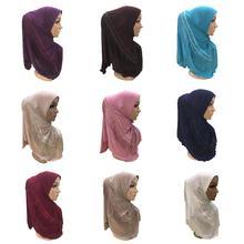 قطعة واحدة الحجاب أميرة النساء وشاح إسلامي غطاء رأس الحجاب الإسلامي شال التفاف الصلاة العربية قبعة Niquabs الحجاب غطاء كامل